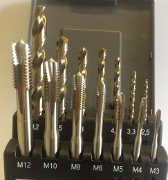 DRTAPSET - Metal Cased Drill and Tap Sets